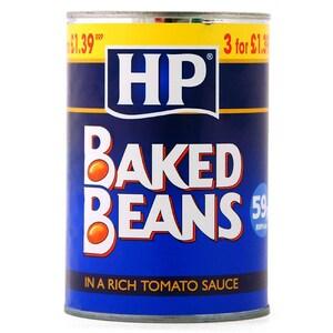 HP Baked Beans 415g - Weiße Bohnen in Tomatensoße