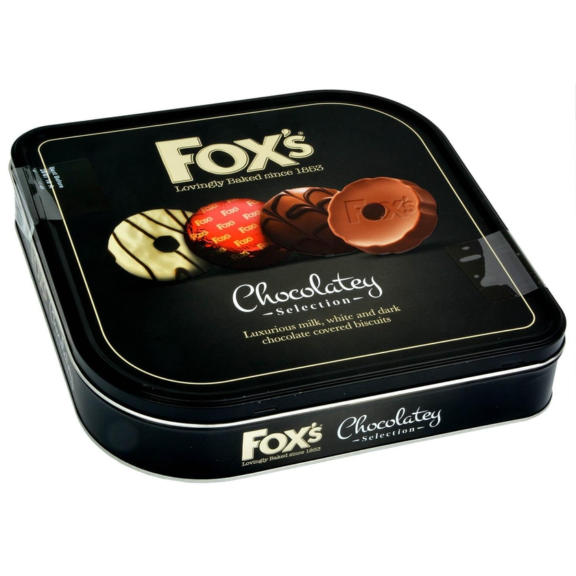 Foxs Chocolatey Selection Biscuits Tin 365g