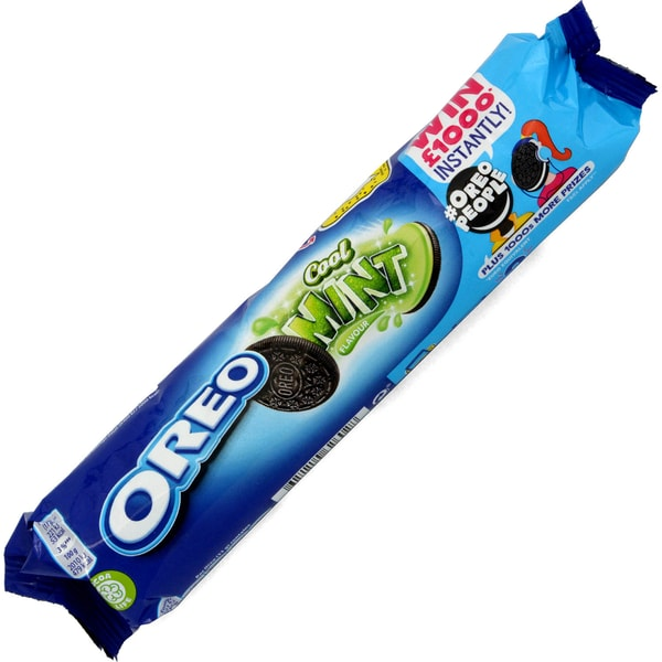 Oreo Cool Mint Doppelkekse mit Cremefüllung 154g