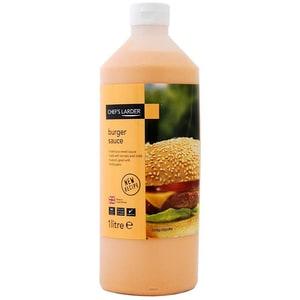 Chefs Larder Burger Sauce 1 Liter - Sauce nach Art einer Mayonnaise mit Tomante und Senf