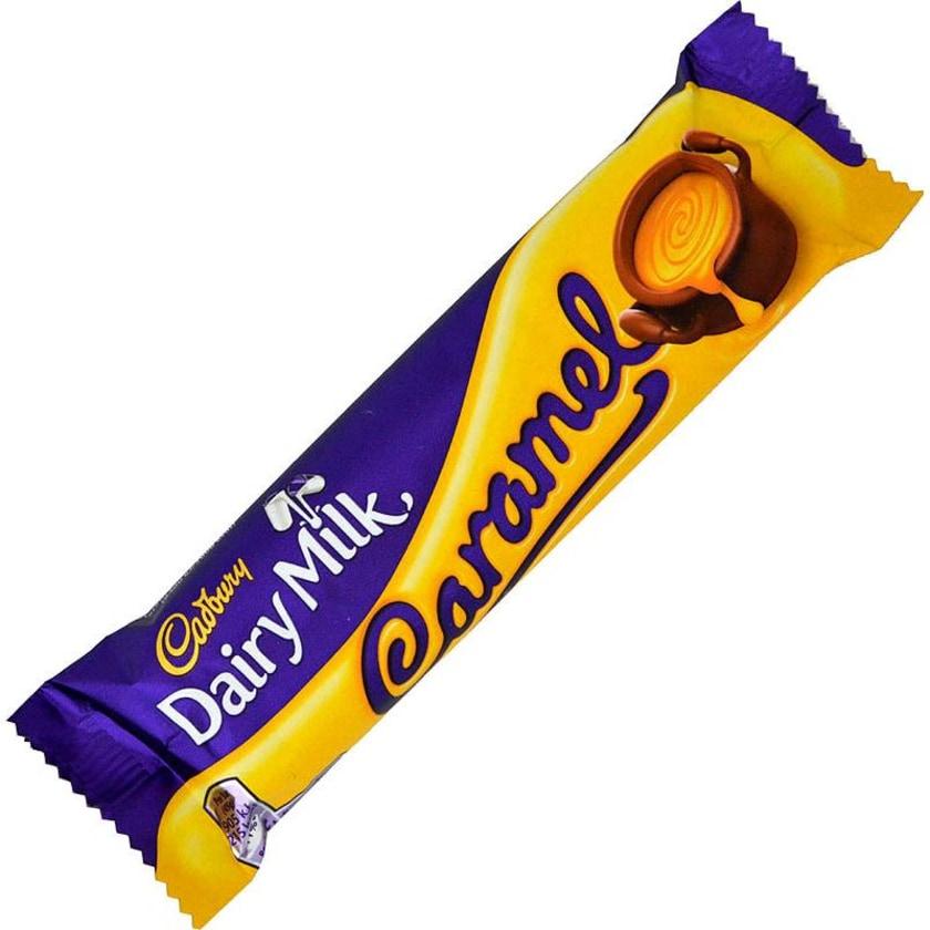 Cadbury Dairy Milk Caramel Bar - Milchschokolade mit Karamellfüllung