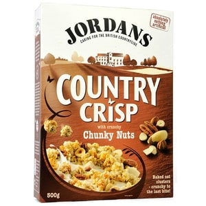 Jordans Country Crisp Chunky Nuts Frühstücksflocken mit Nüssen