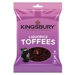 Kingsbury Liquorice Toffee 160g - Karamellbonbons Lakritz-Geschmack