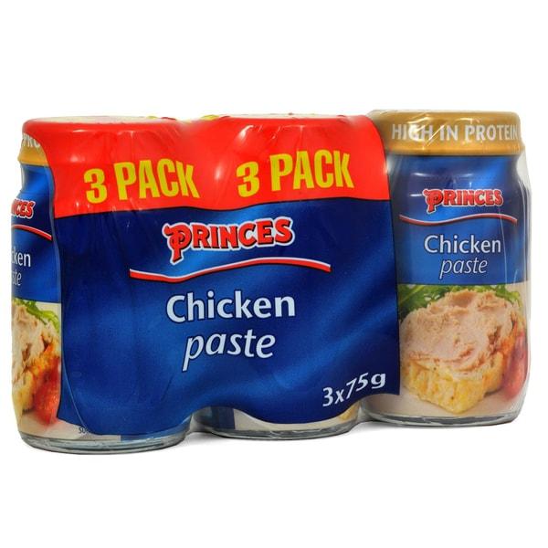 Princes Chicken Paste 3 x 75g - Brotaufstrich mit Hähnchen