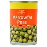 Happy Shopper Marrowfat Peas 300g - Markerbsen mit Zucker und Salz, Abtropfgewicht 180g