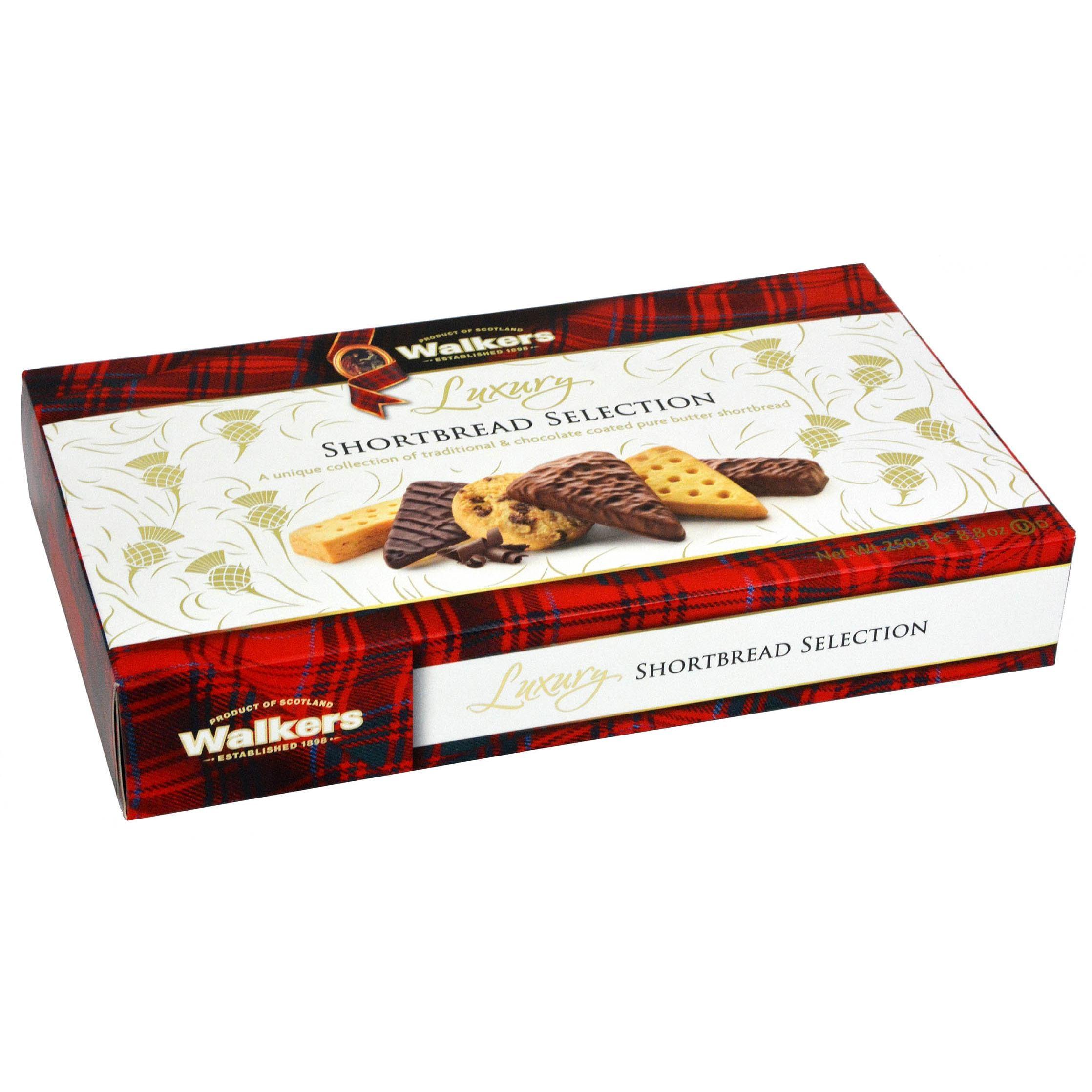 Walkers Luxury Shortbread Selection with Chocolate 250g - Buttergebäckmischung