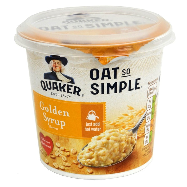 Quaker Oat So Simple Pot Golden Syrup - Instant-Haferflocken 57g