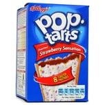 Kelloggs Pop-Tarts Strawberry Sensation - Keks mit Topping und Erdbeer-Füllung