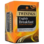 Twinings English Breakfast Tee Schwartee, entkoffeiniert 50 Teebeutel 125g