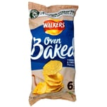 Walkers Oven Baked Cheese & Onion Kartoffelsnack 6 x 25g