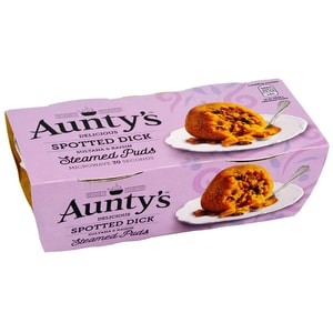 Aunty´s Spotted Dick Steamed Puddings - Dessert-Kuchen mit Rosinen