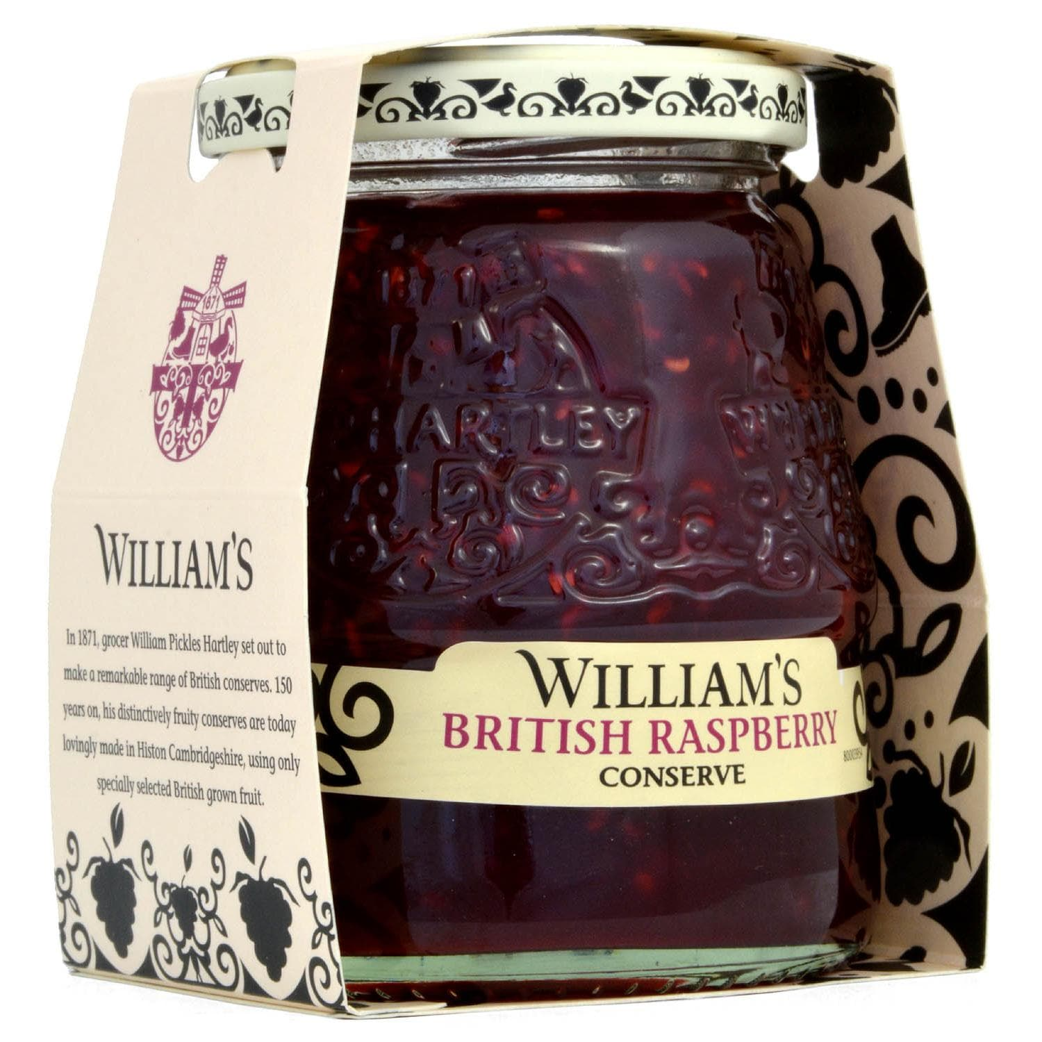 Williams British Raspberry Conserve 340g - Himbeer-Konfitüre extra