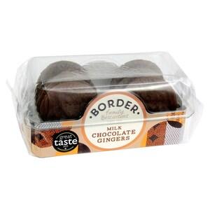 Border Biscuits Milk Chocolate Gingers - Ingwerkekse mit Milchschokoladenüberzug