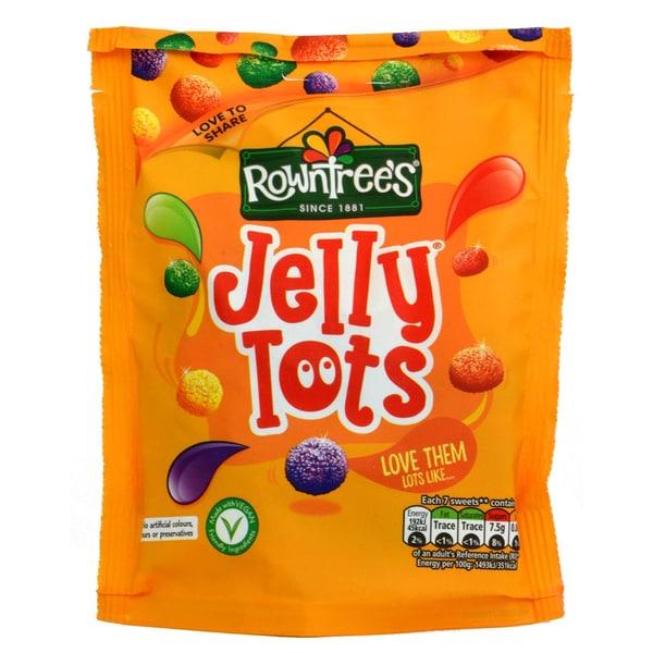 Rowntrees Jelly Tots 150g - Geleebohnen mit Fruchtgeschmack
