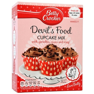 Betty Crocker Devils Food Cupcake Mix - Backmischung Schokoladen-Cupcakes