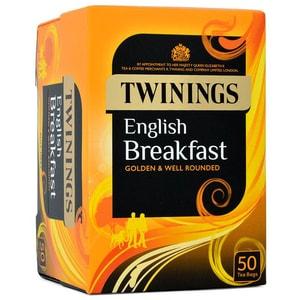 Twinings English Breakfast Tee Schwarztee 50 Teebeutel