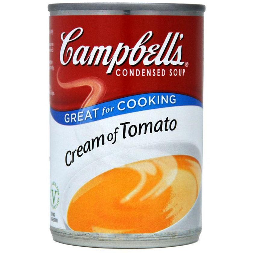 Campbells Cream of Tomato Condensed Soup - gebundene Tomatencremesuppe