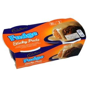 Cadbury Sticky Puds Fudge Desserkuchen mit Soße 2 x 95g