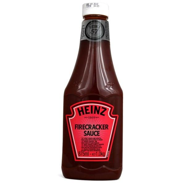 Heinz Firecracker Sauce Feurige Tomatenund Chili-Sauce mit Rauch-Aroma 875ml