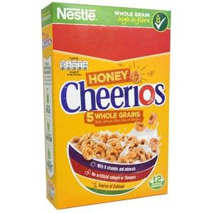 Nestle Honey Cheerios 375g - Vollkorm-Frühstücksflocken mit Honig-Geschmack