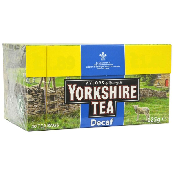 Yorkshire Tea Decaf 40 Teebeutel teinfreier Schwarztee