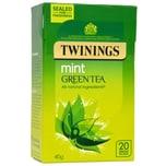 Twinings Grüner Tee mit Minze 20 Teebeutel - aromatisierter Grüntee mit Pfefferminze