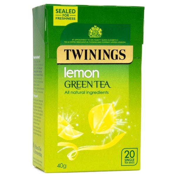 Twinings Grüner Tee Zitrone 20 Teebeutel - aromatisierter Grüntee