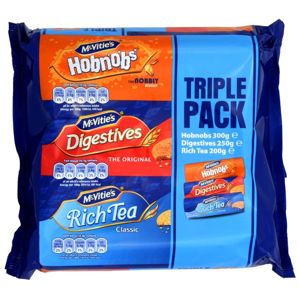 McVities Triple Pack 750g - Keks-Sortiment