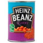 Heinz Beanz Curry Weiße Bohnen in Tomatensoße Curry-Geschmack 390g