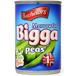 Batchelors Bigga Marrowfat Processed Peas 300g - ATG 180g Markerbsen in Wasser mit Salz und Zucker