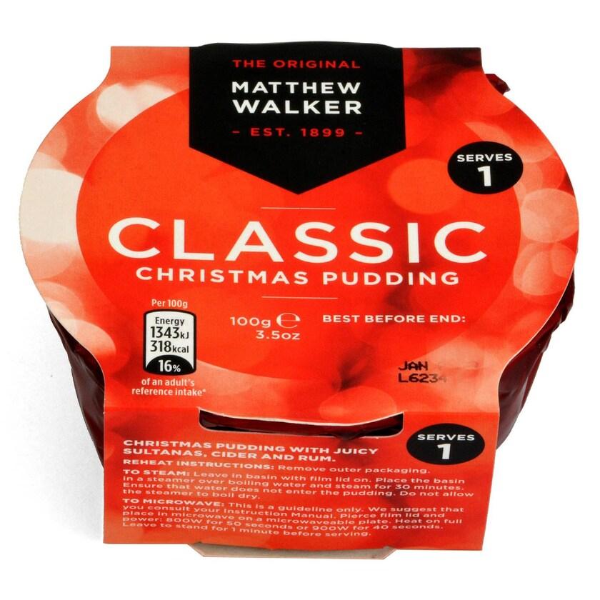 Matthew Walker Classic Christmas Pudding 100g - Klassischer Plumpudding