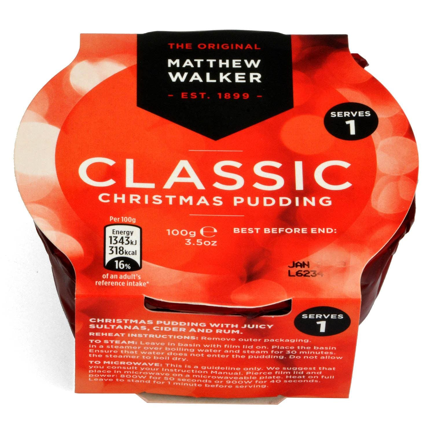 Matthew Walker Classic Christmas Pudding 100g - Klassischer Plumpudding