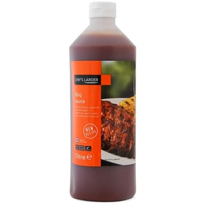 Chefs Larder BBQ Sauce 1 Liter - Feinkost-Grillsauce mit Rauchgeschmack