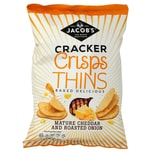 Jacobs Cracker Crisps Thins Matured Cheddar and Roast Onion 130g