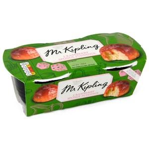 Mr. Kipling 2 Raspberry Sponge Puddings 190g - Rührkuchen mit Himbeer-Sauce
