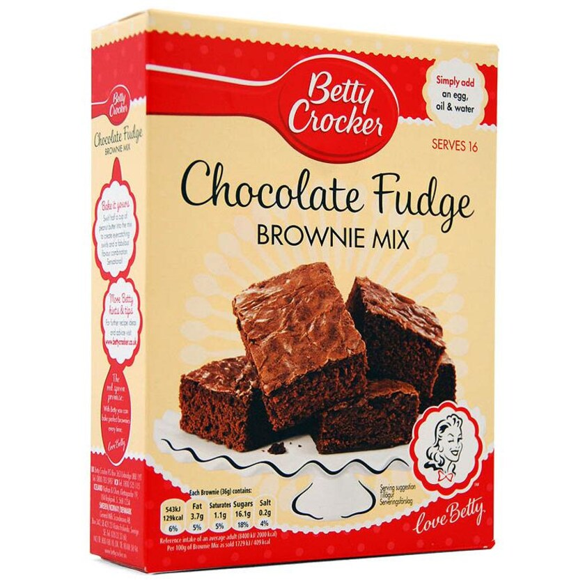 Betty Crocker Chocolate Fudge Brownie Mix - Backmischung Schokoladenbrownies