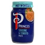 Princes Sardine & Tomato Paste Sardine-Tomate-Brotaufstrich mit Lachs Makrele und Kabeljau 75 g