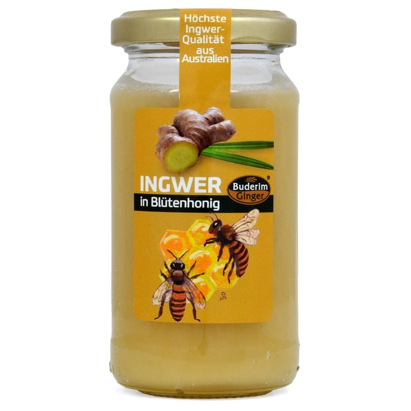 Buderim Original Ginger in Blossom Honey - Ingwer-Blütenhonig 250g