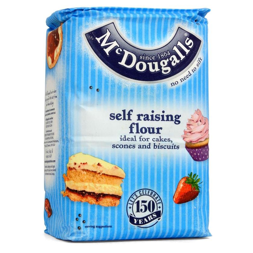 McDougalls Self Raising Flour Weizenmehl mit Backtriebmitteln 1,5kg