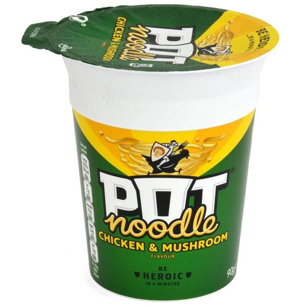 Pot Noodle Chicken & Mushroom - Instant-Nudelgericht Huhn-Champignon-Geschmack