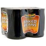 Branston Baked Beans 4 x 410g - weiße Bohnen in Tomatensoße