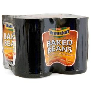 Branston Baked Beans weiße Bohnen in Tomatensoße 4 x 410g