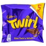 Cadbury Twirl 5 Milchschoko-Riegel 107,5g