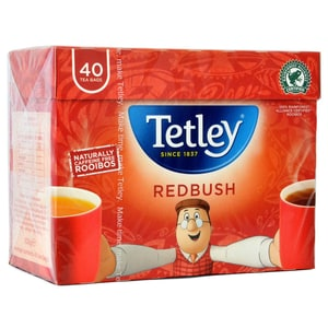 Tetley Redbush Tee 40 Teebeutel - Kräutertee in Teebeuteln