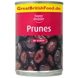 Happy Shopper Prunes in Syrup 420g - Pflaumen in Syrup, ATG 235g