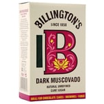 Billingtons Natural Dark Muscovado Sugar 500g - dunkler Muskovado-Zucker