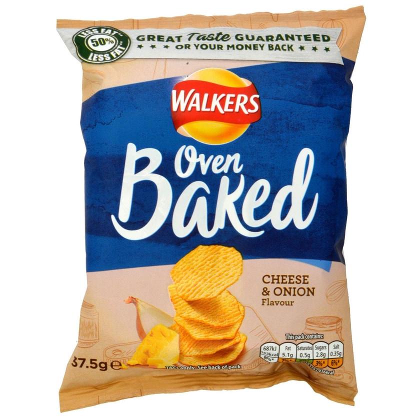 Walkers Oven Baked Cheese & Onion 37.5g Tüte gebackener Kartoffelsnack