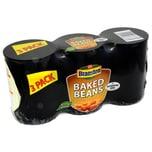 Branston Baked Beans 3 x 410g Weiße Bohnen in Tomatensoße