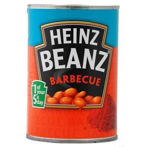 Heinz Beanz Barbecue 390g - Weiße Bohnen in Tomatensoße, Grillgeschmack