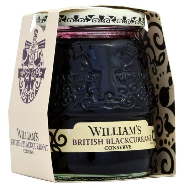 Williams British Blackcurrant Conserve 340g - Schwarze-Johannisbeer-Konfitüre extra